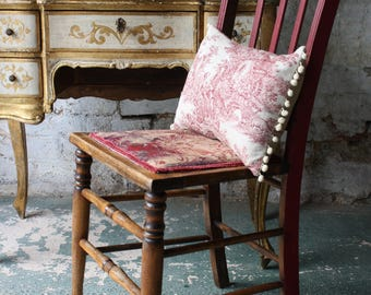 Vintage Part-painted Chair with Pretty Upholstered Seat