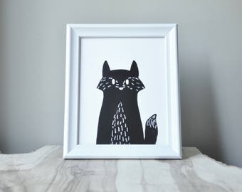 woodland series - fox print