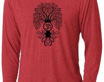 Yoga Clothing For You Mens Bodhi Tree Lightweight Hoodie Tee Shirt - NL6021-BODTREE