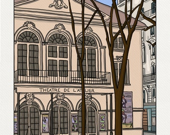 Theatre Workshop - Illustration Paris - print on fine art paper