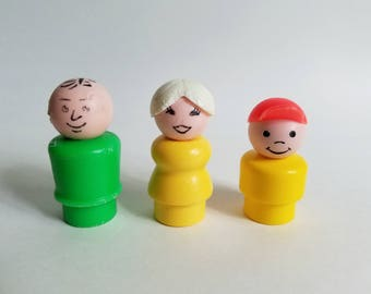 Vintage Fisher Price Little People Family of Three