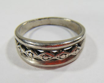 Vintage Silver Ring Size 8 3/4