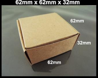 Kraft Paper Boxes - 10pcs Brown Kraft Box Paper Box Gift Boxes Gift Wrapping 62mm x 62mm x 32mm