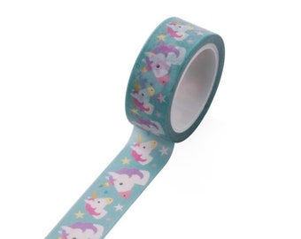 Unicorn - pretty masking tape Washi tape with unicorns