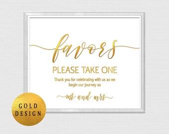 Favor sign gold, wedding favor sign instant download, gold favor sign, Wedding Favor Printable, wedding sign gold foil,Wedding Printable B22