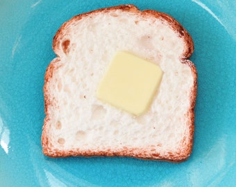 SECONDS: Toast Bread Soap Slice with Butter Pad - cute soap - food soap  - Freshly Baked Bread Scent