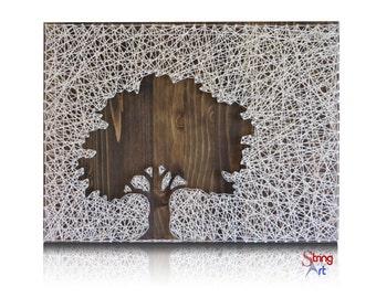 Inverse Oak Tree String Art Kit -Tree String Art, DIY Kit, Crafts Kit, Mother's Day Gift, Adult Crafts, Gift for Mom, Mother's Day Gift Idea