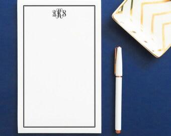 Monogram notepad set, Personalized notepad set, Monogrammed notepad set , Personalized Writing Paper, Mongrammed Notepad, NP013
