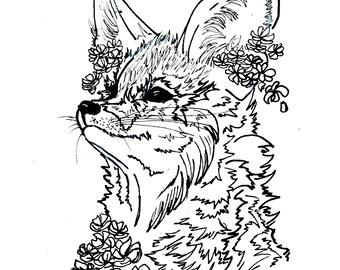 Fennec Fox Print
