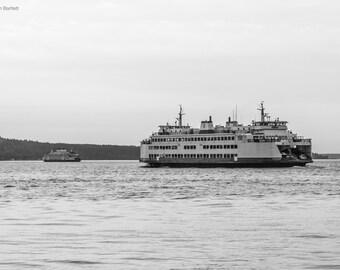 Ferries at Mukilteo Lighthouse & Beach, WA