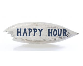 Happy Hour Surf Board Sign
