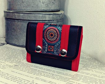 Limited Edition Mandala Wallet, Small Vegan Leather Wallet for Women, Trifold Wallet with Coin Pocket - UNUSUAL Wallet