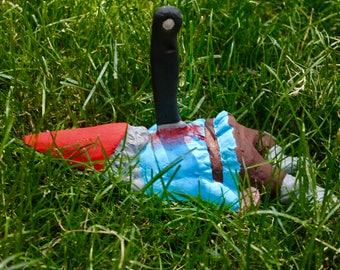 Zombie Gnomes: Impaled Issac Garden / Wall Decor