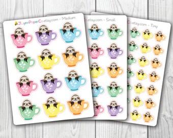 Sloths in Cups Stickers AV001