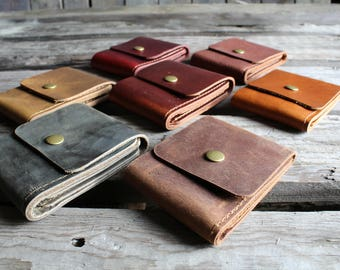 Leather Billfold, Leather wallet, Billfold wallet, Card Wallet, leather minimalist wallet, leather bifold wallet, mens leather wallet