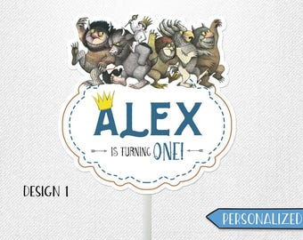 Where the Wild Things Are birthday sign, Where the Wild Things Are sign, Where the Wild Things Are centerpiece. Personalized!