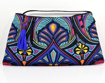 Blue Woven Tassel Crossbody Bag   Boho   Summer  