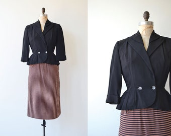 Heilbron suit | vintage 1950s dress | 50s fitted jacket and 50s skirt