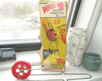 Vintage Maggie Whee-Lo with Box/Magnetic Walking Wheel