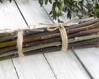 Willow set of 25 pcs Material for needlework Dry branches Wood pieces Willow decoration Natural sticks Wooden Craft supply Tree Branch Decor