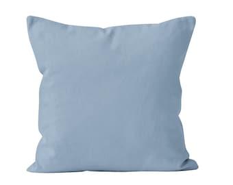 Pastel Blue Pillow Cover, Powder Blue Pillow Cover, Baby Blue Pillow Cover, French Blue Pillow Cover, Soft Pastel Blue Bedroom Decor _M