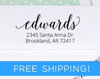 Return Address Stamp - self inking stamp - custom address stamp - wedding gift - housewarming gift - mothers day gift - closing gift  (D202)