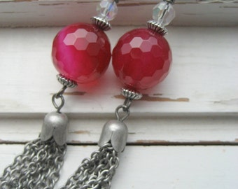 Cabaret Cherry Quartz dangle earrings