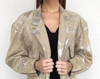 1980s Designer Escada Leather Jacket