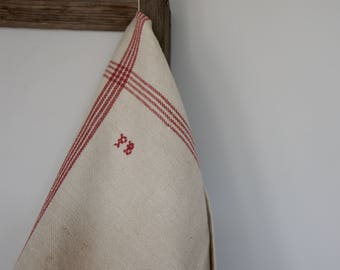 French T-Towel (embroidered initials PB)