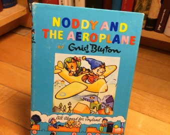 Noddy and the Aeroplane by Enid Blyton / Vintage book / Children's Book / Kid's Book / All Aboard for Toyland / Children's Gift / Noddy Book
