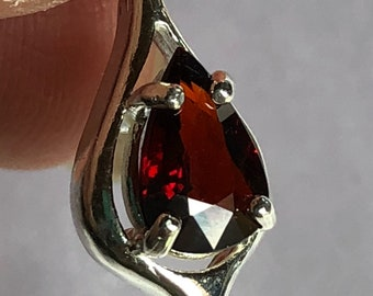 Spessartite Garnet  .925 Sterling Silver Necklace