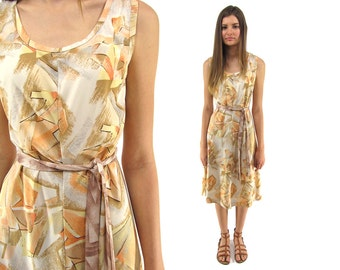 70s Abstract Tent Dress, A-line Dress, Summer Dress, Boho Dress, Hippie, Geometric, 70s Printed Dress Δ size: sm / md