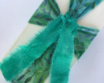 Turquoise Batik Cross