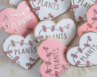 Chain Of Hearts - Heart Pin - Plant love - Pin Game - Hard Enamel Pin - Enamel Pins- Lapel Pin Badge - Crazy Plant Lady - Valentines day pin