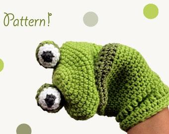 Pattern Crochet Hand Puppet - Frog