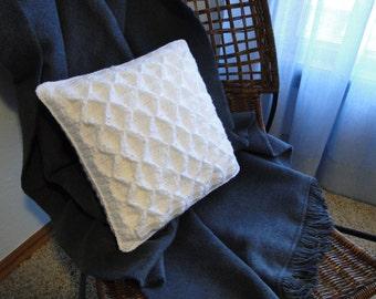 Crochet Pattern - Pillow Crochet Pattern #603 - Smocked Pillow Crochet Pattern - Instant Download PDF