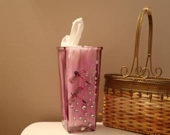 Dragonfly tissue vase