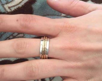 Small Sterling Silver Spinner Fidget Ring