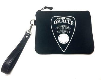 MADE TO ORDER - Ouija Handbag, planchette handbag, ouija board bag, planchette wristlet, ouija wristlet