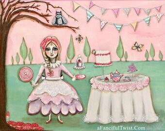 "Tea-Party in der magischen Cypress Grove - 8 ""x 10"""