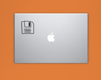 Floppy Disc VINYL Decal, Floppy Disk Decal, Illustrated Decal, Computer Decal, Vinyl Sticker