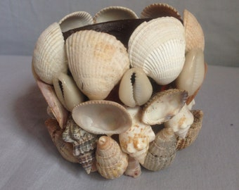 Unique Shell plant pot-beach decor planter-shell plant pot-seashell plant pot-ornament-gift-plant pot-home decor-succulent pot