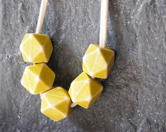 minimalist cube necklace - geometric - modern - hex necklace - tiny hexagon