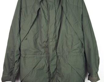 VVintage Japanese Brand VAN JAC Green Army Windbreaker Parka Lagendary Designer Jacket