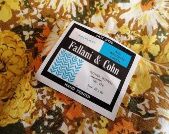 SALE!! Vintage New Fallani & Cohn Belgian Linen Tablecloth, Autumn colors, NOS, NWT