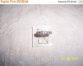 SUMMER SALE 20% OFF, Vintage 9 Clear Cubic zirconias engagement or wedding ring. Sterling silver.
