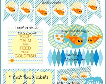 Gold Fish Party Kit