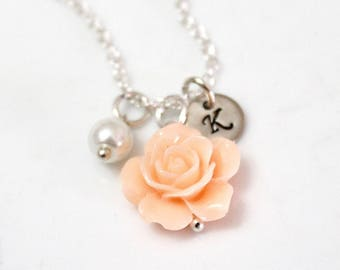 Children's Necklace, Personalized Necklace, Flower Girl Necklace, Kids Wedding Jewelry, Childrens Jewelry, kids necklace, Flower Girl Gift