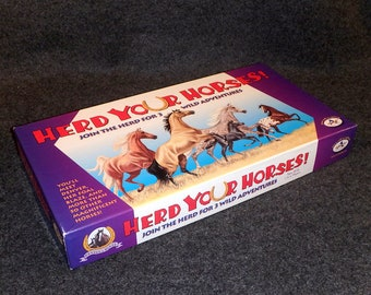 Herd Your Horses Game - Join The Herd For 3 Wild Adventures - Vintage Family Fun