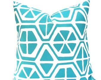 15% Off Sale Pillow Outdoor Pillow Cover Aqua Pillow , Outdoor Pillow, Blue Pillow, Outdoor blue Pillow, Turquoise Pillow, Outdoor Pillows,